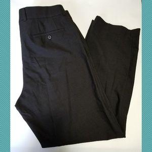 Gardeur Dark Brown Flat Front 'Grosse' Pants